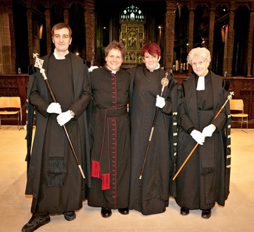 The Precentor and Vergers of Wakefield Cathedral.