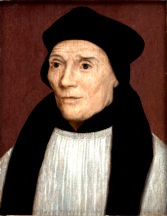 """Saint John Fisher — later both Cardinal and Martyr, but depicted when he was """"just"""" the long-serving Bishop of Rochester and Chancellor of Cambridge University (executed 1532 for refusing to acknowledge Henry VIII as supreme head of the Church in England)"""