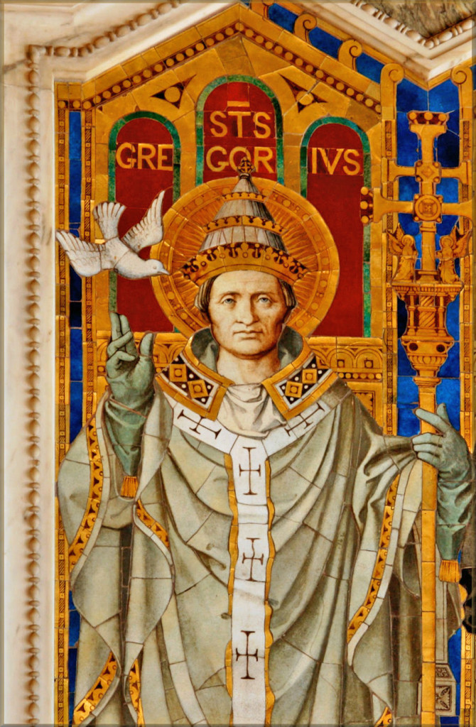 Mosaic of Saint Gregory the Great from London's  Westminster Cathedral